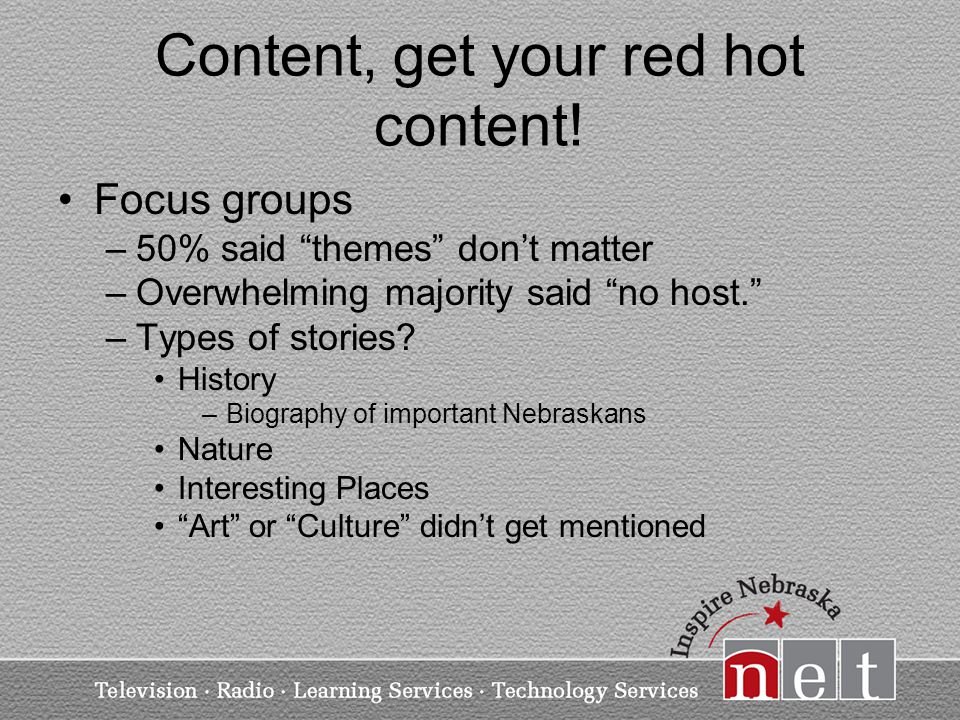 Content, get your red hot content.