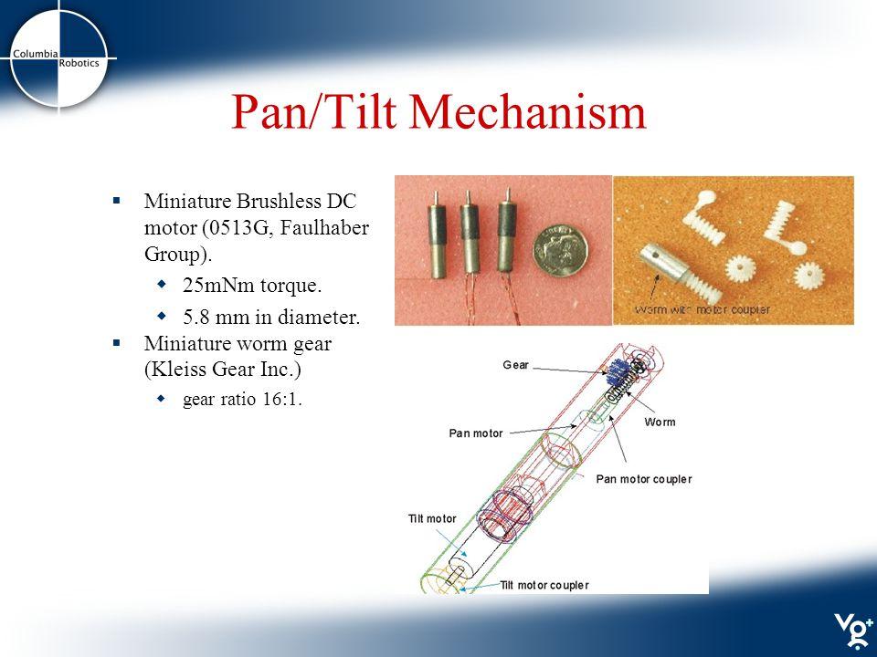 Pan/Tilt Mechanism  Miniature Brushless DC motor (0513G, Faulhaber Group).