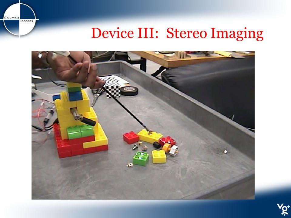 Device III: Stereo Imaging