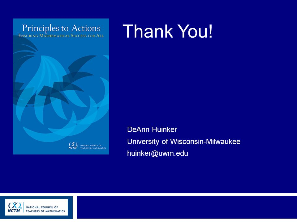 Thank You! DeAnn Huinker University of Wisconsin-Milwaukee huinker@uwm.edu