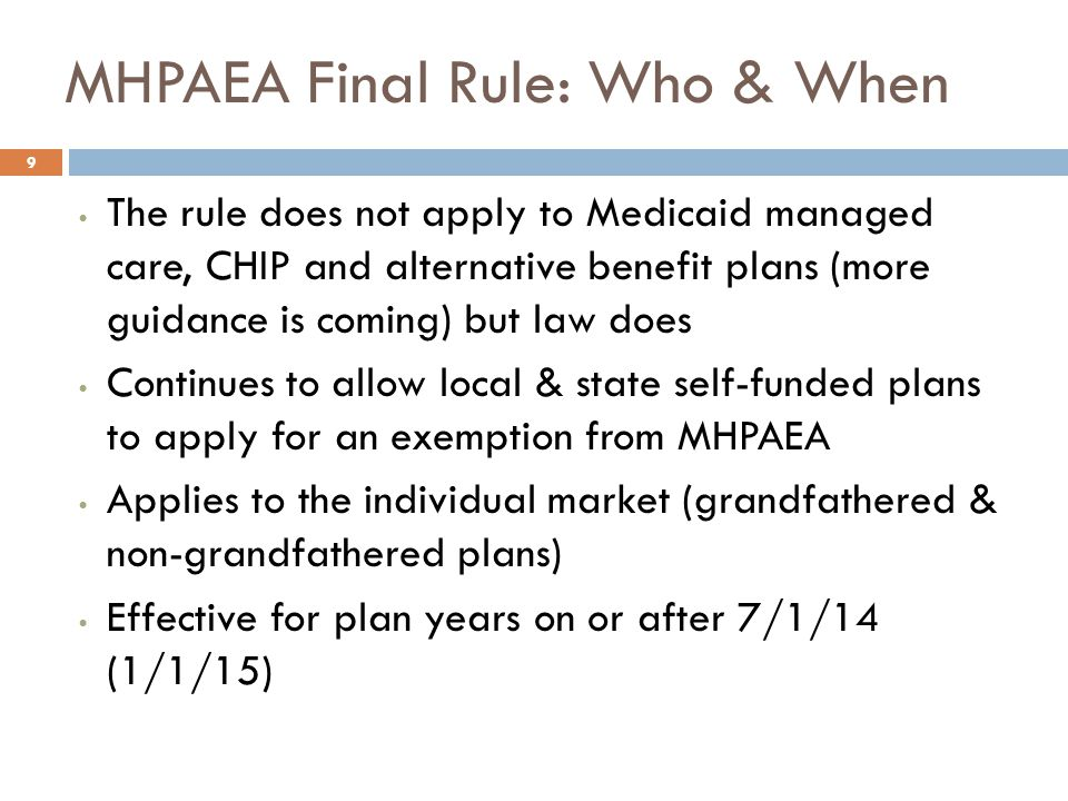 MHPAEA Final Rule: Scope of Service  Big win for intermediate services (IOP, PHP, residential)  Clarified scope of service issue by stating:  6 classification benefits scheme was never intended to exclude intermediate levels of care  MH/SUD services have to be comparable to the range & types of treatments for medical/surgical within each class  Plans must assign intermediate services in the behavioral health area to the same classification as plans or issuers assign intermediate levels for medical/surgical 10 Strategy: Submit claim for recovery support services if plan covers diabetes, cancer coaching etc