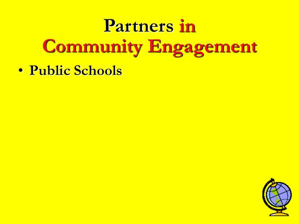 PublicPublic Schools Partners in Community Engagement