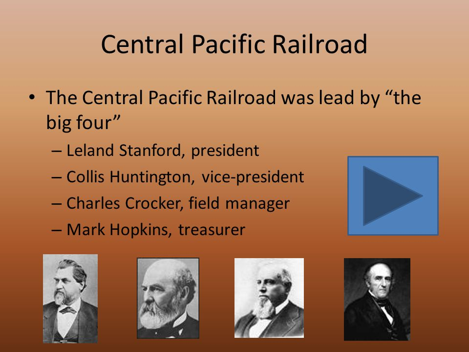 The Transcontinental Railroad In 1862 President Lincoln signed the Pacific Railroad Act creating two railroad companies to compete in completing a railroad from coast to coast.