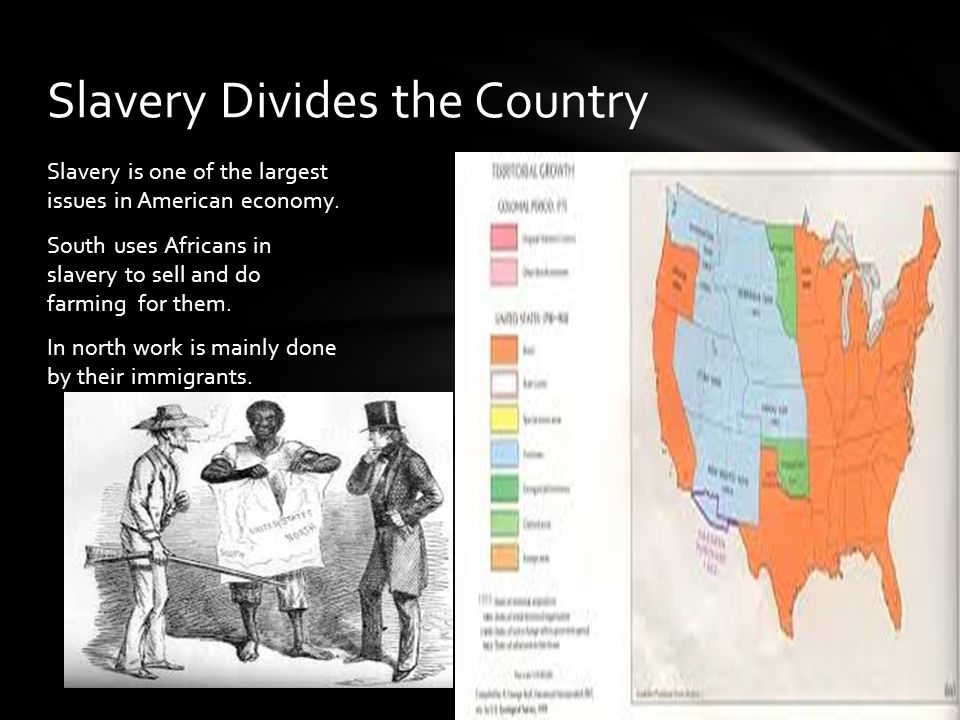 Slavery is one of the largest issues in American economy.