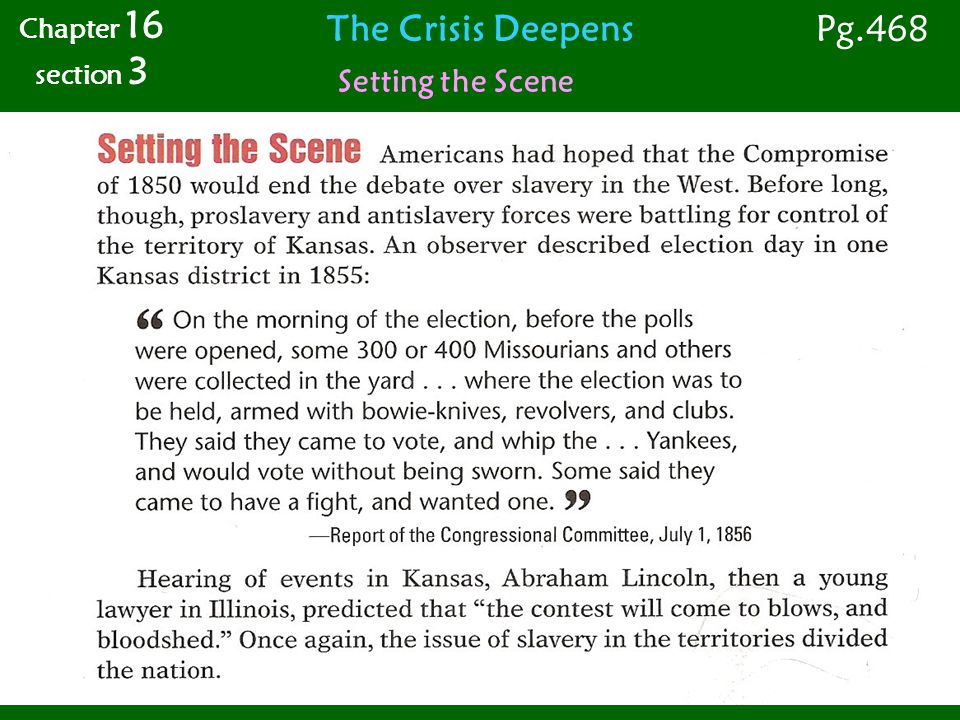 Violence in the Senate Chapter 16 section 3 Pg.470