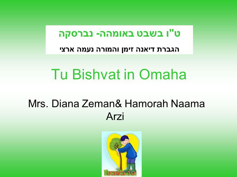 לכבוד טו בשבט,למדו ילדי גן אילת , על ההבדלים בין החורף בישראל לבין החורף בנברסקה.