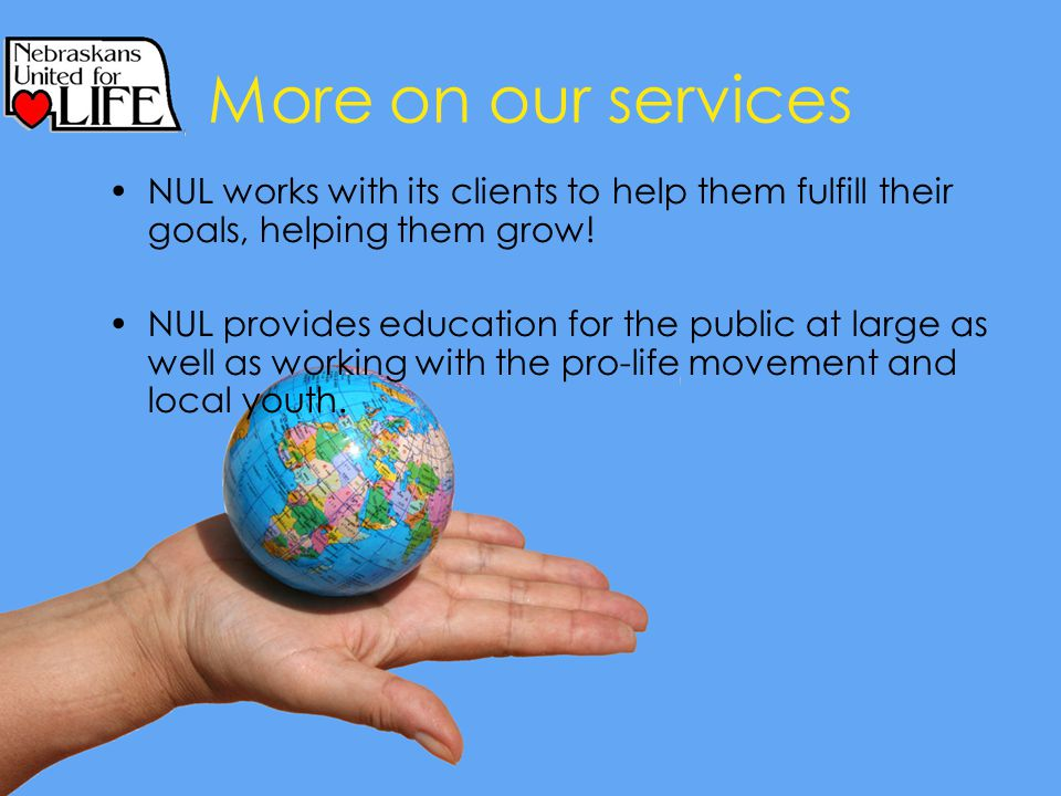 More on our services NUL works with its clients to help them fulfill their goals, helping them grow.