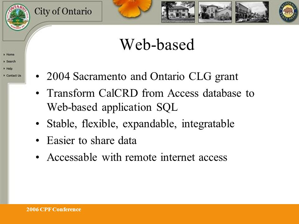 2006 CPF Conference Click Admin Login administrator Password rosebud Thumbnail preview