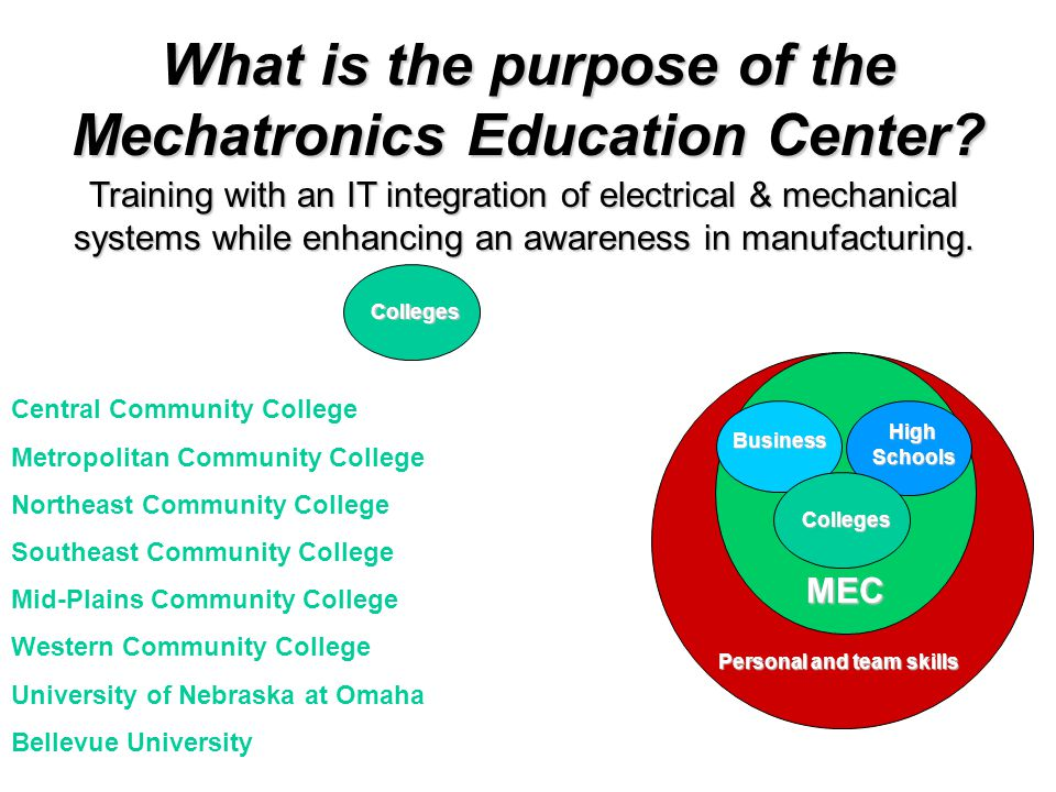 What is the purpose of the Mechatronics Education Center.