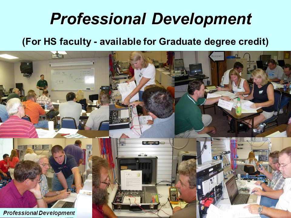 (For HS faculty - available for Graduate degree credit) Professional Development