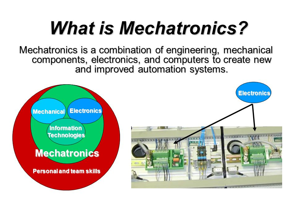 What is Mechatronics.