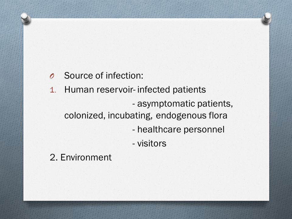 O Susceptible hosts 1.Altered immunity 2. Normal immunity 3.