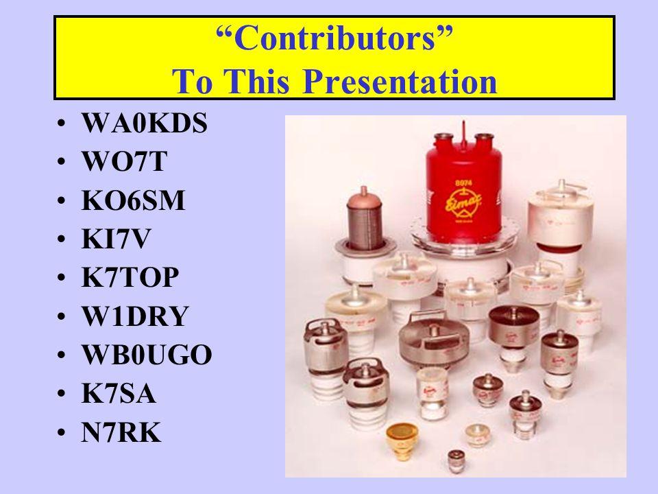 Ver 0.7.54 Contributors To This Presentation WA0KDS WO7T KO6SM KI7V K7TOP W1DRY WB0UGO K7SA N7RK