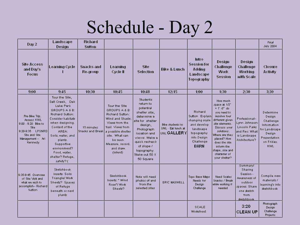 Schedule - Day 2