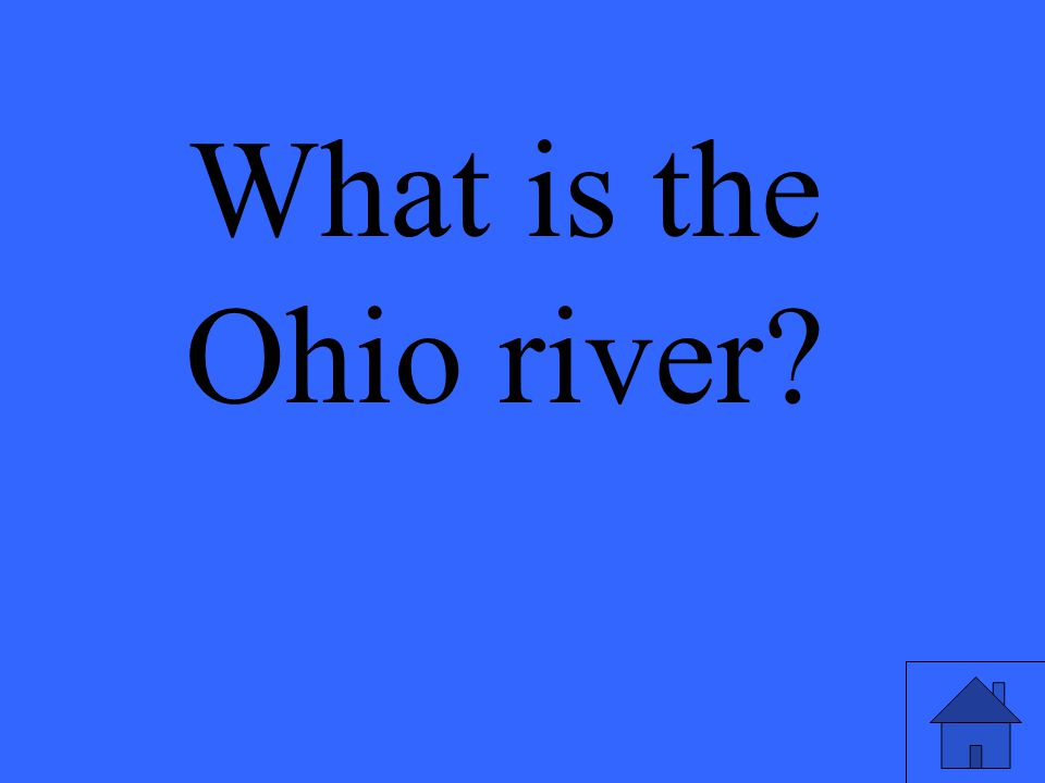 What is the Ohio river