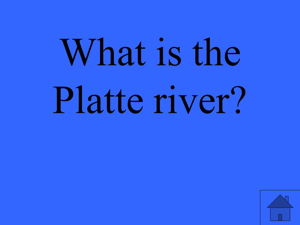 What is the Platte river