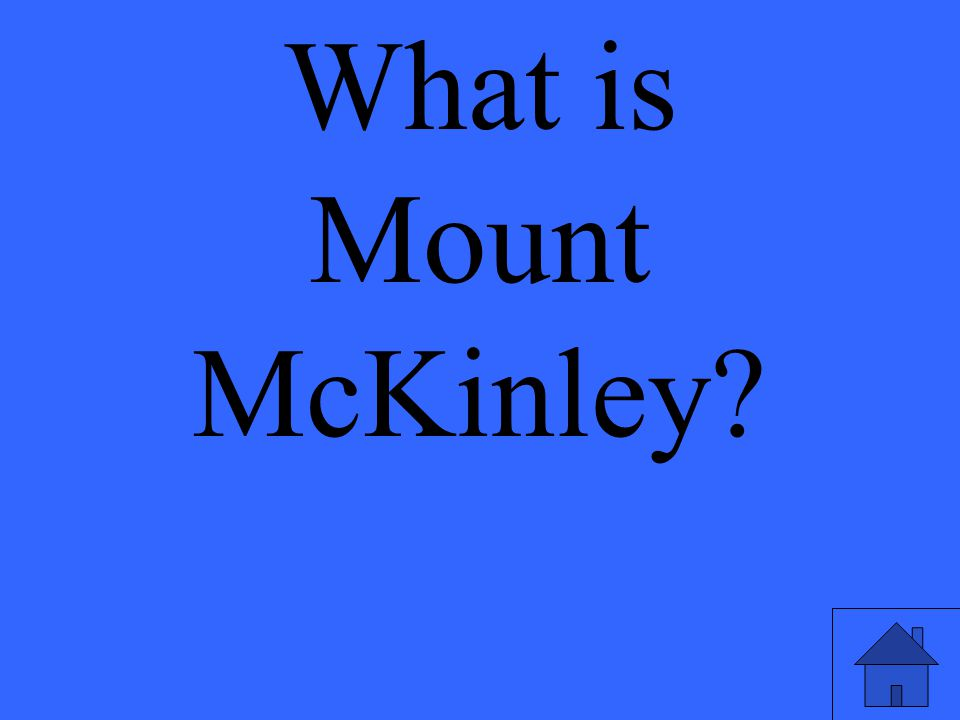 What is Mount McKinley