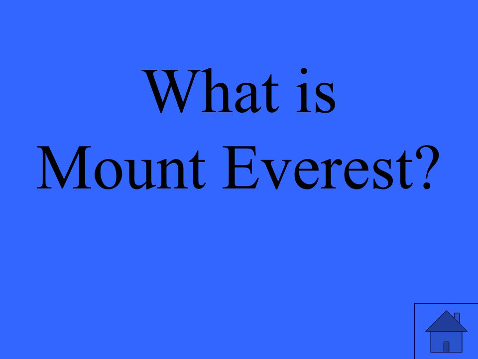 What is Mount Everest