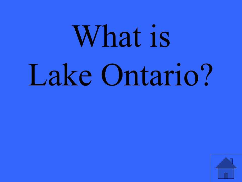 What is Lake Ontario