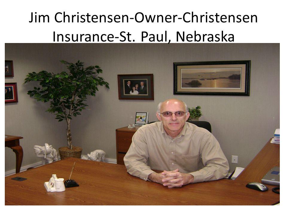 Jim Christensen-Owner-Christensen Insurance-St. Paul, Nebraska