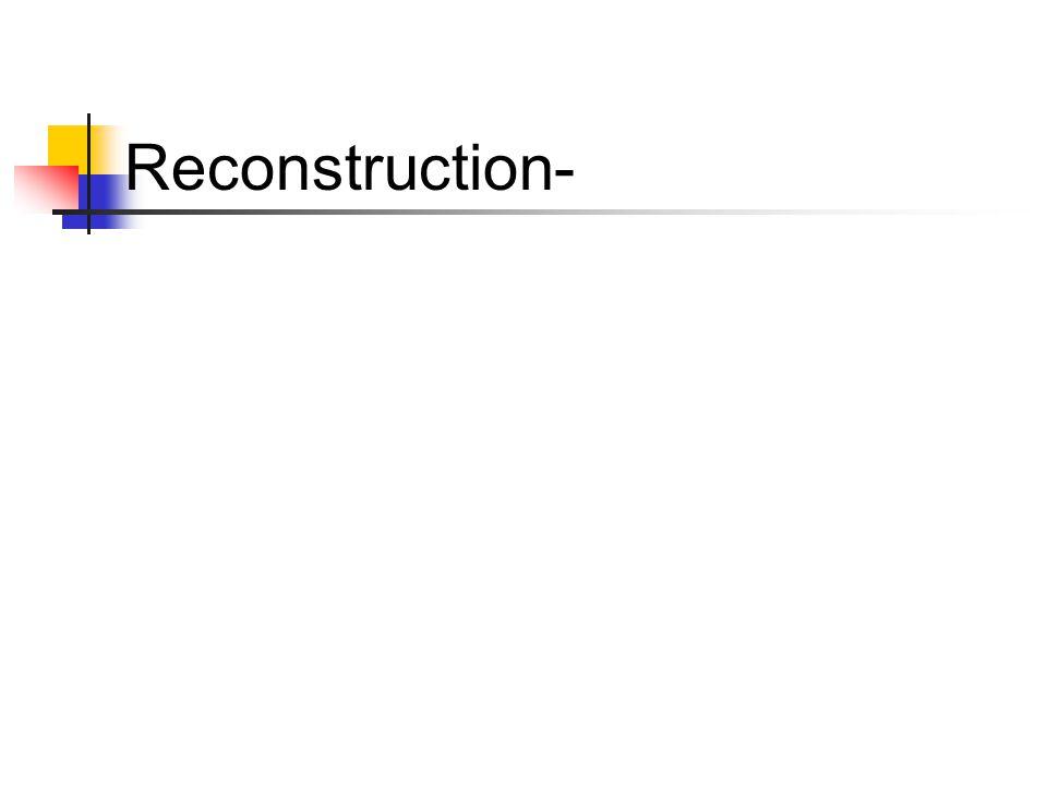 Reconstruction-