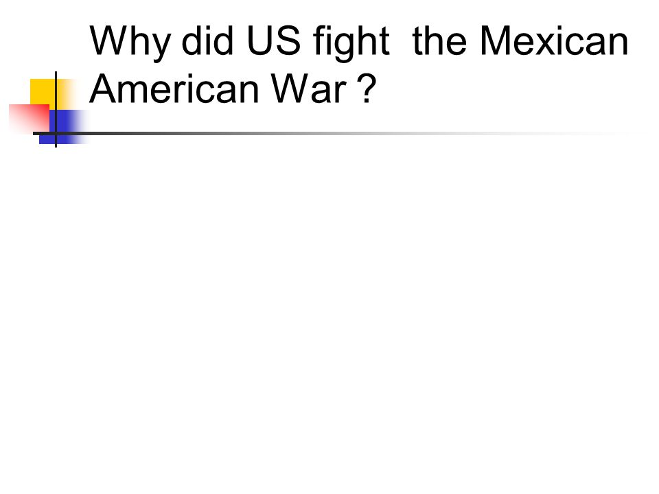 Why did US fight the Mexican American War ?