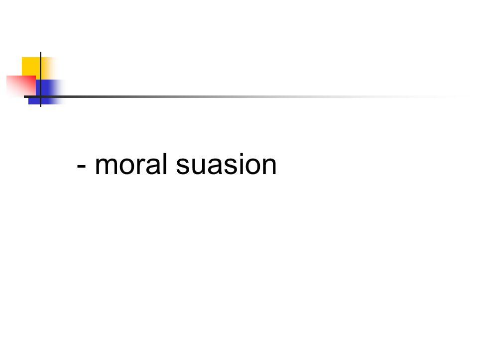 - moral suasion