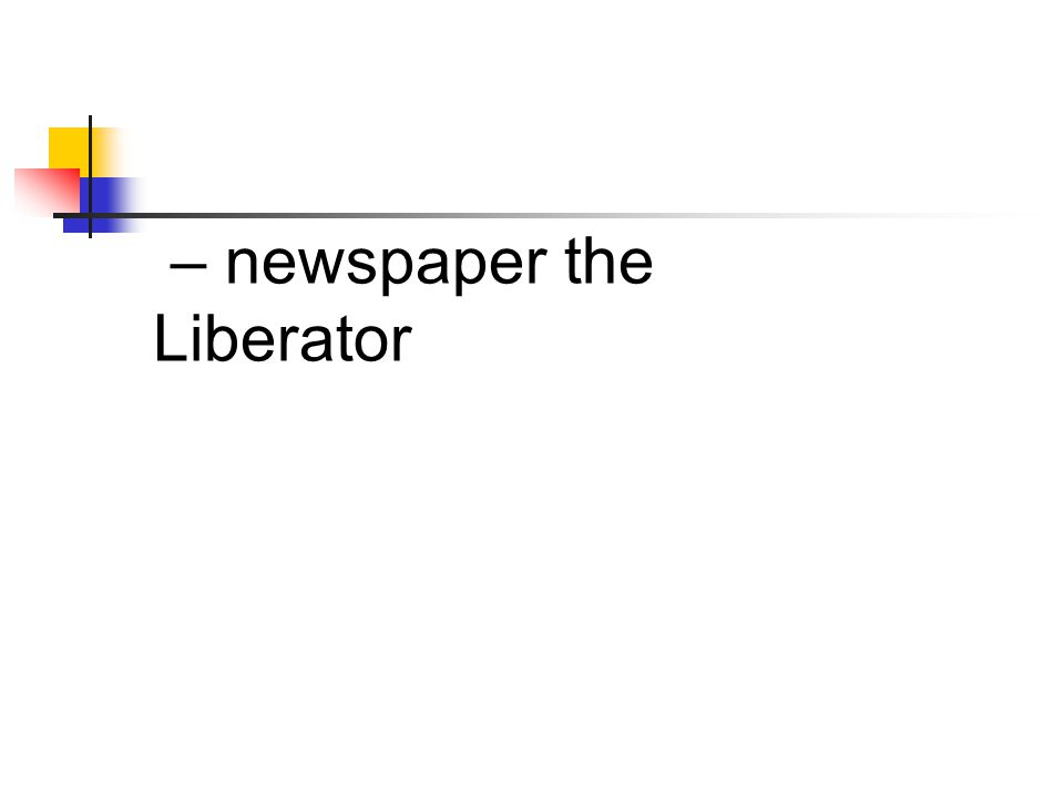 – newspaper the Liberator