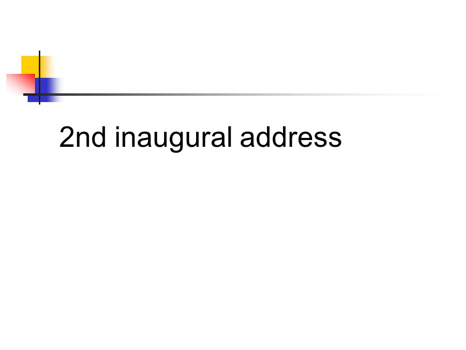 2nd inaugural address