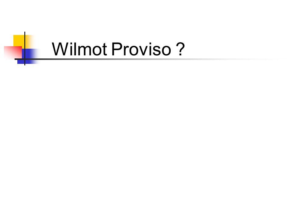 Wilmot Proviso ?