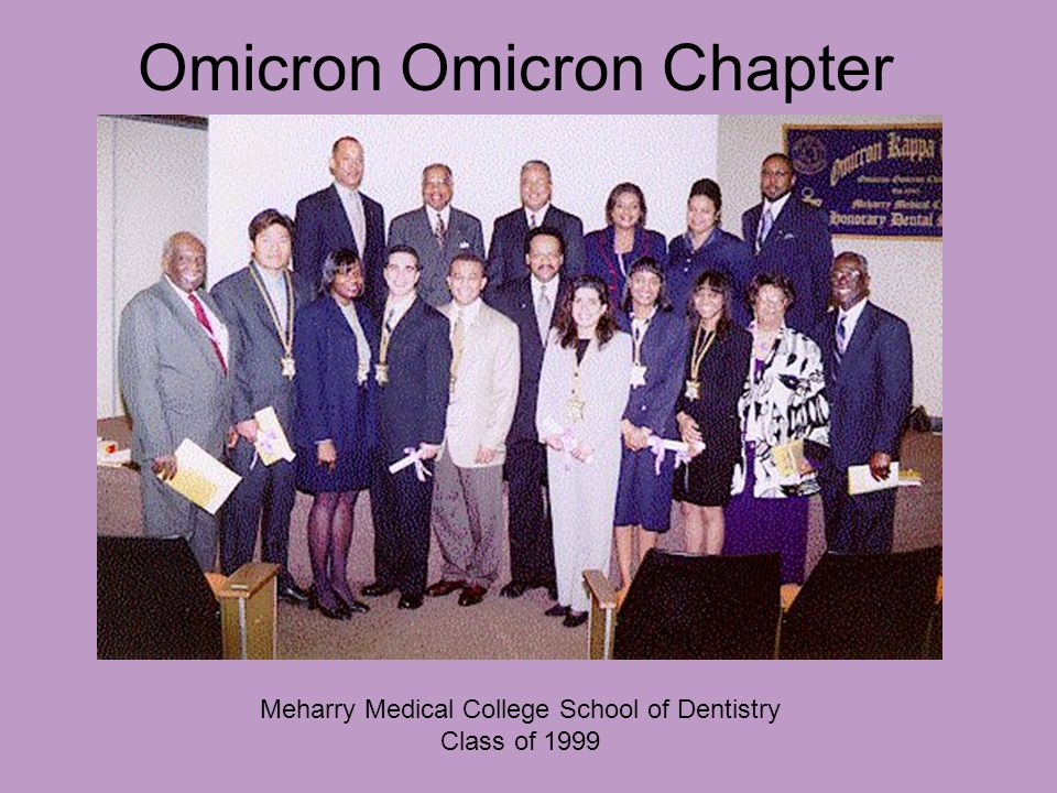 Omicron Omicron Chapter Meharry Medical College School of Dentistry Class of 1999