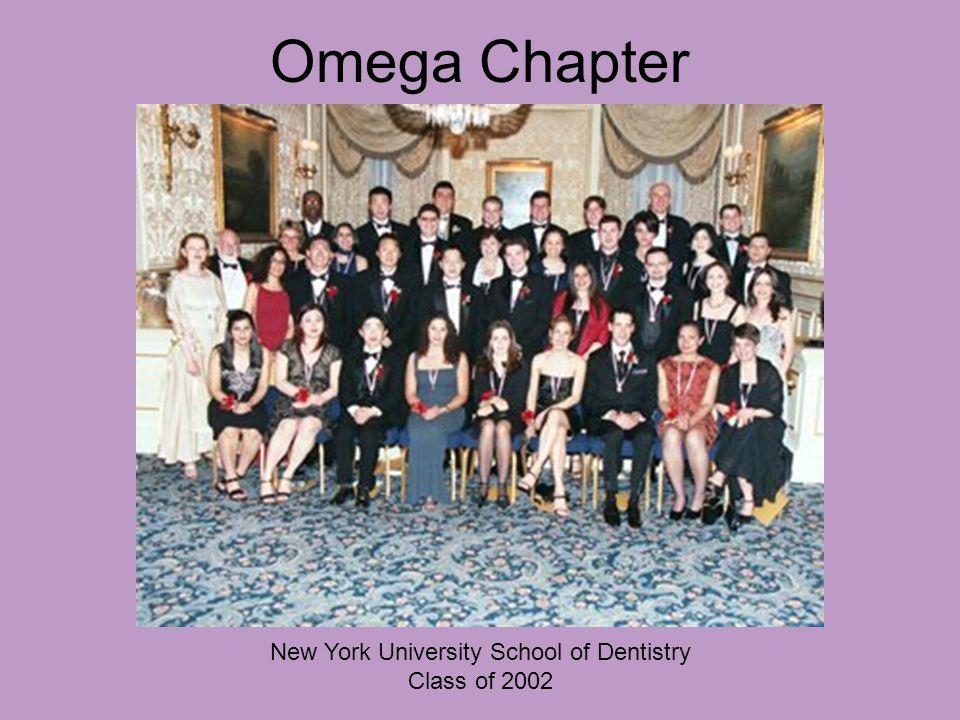 Omega Chapter New York University School of Dentistry Class of 2002