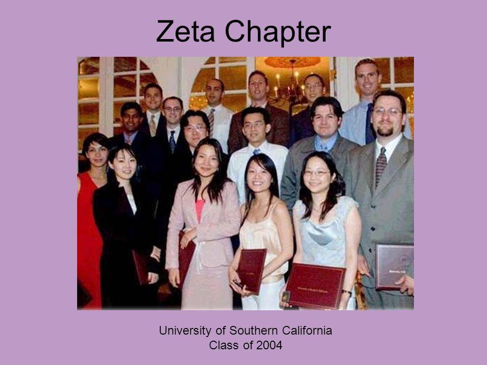 Zeta Chapter University of Southern California Class of 2004