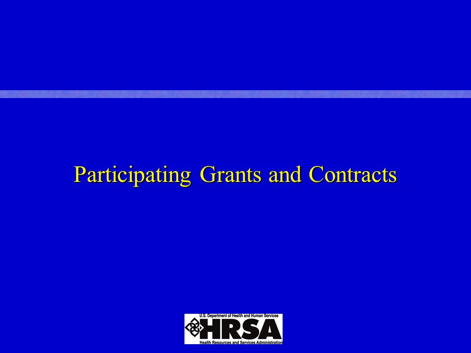 Participating Grants and Contracts
