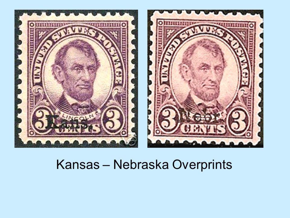 Kansas – Nebraska Overprints