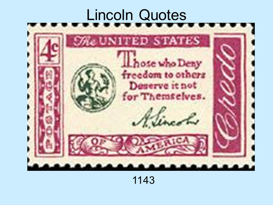 Lincoln Quotes 1143