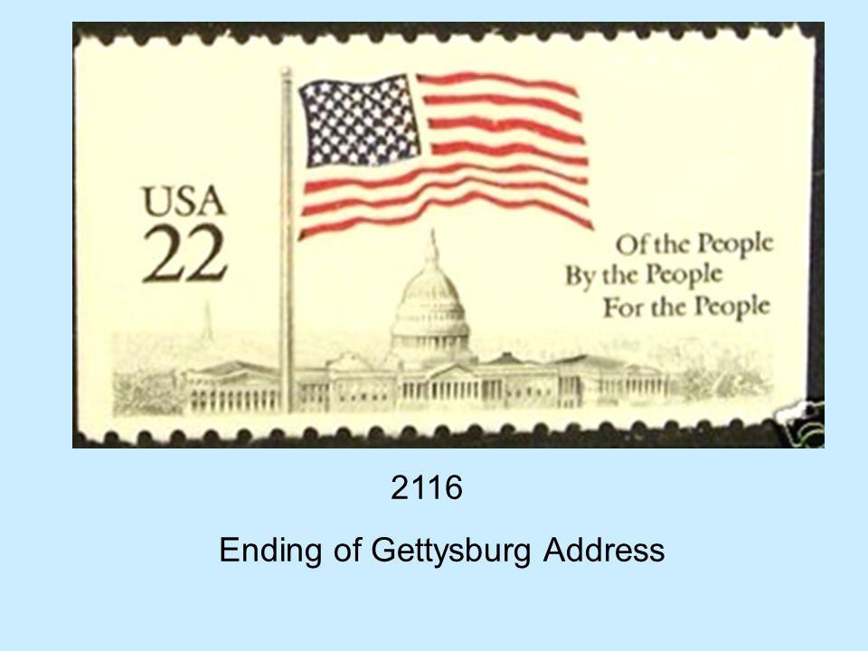 2116 Ending of Gettysburg Address