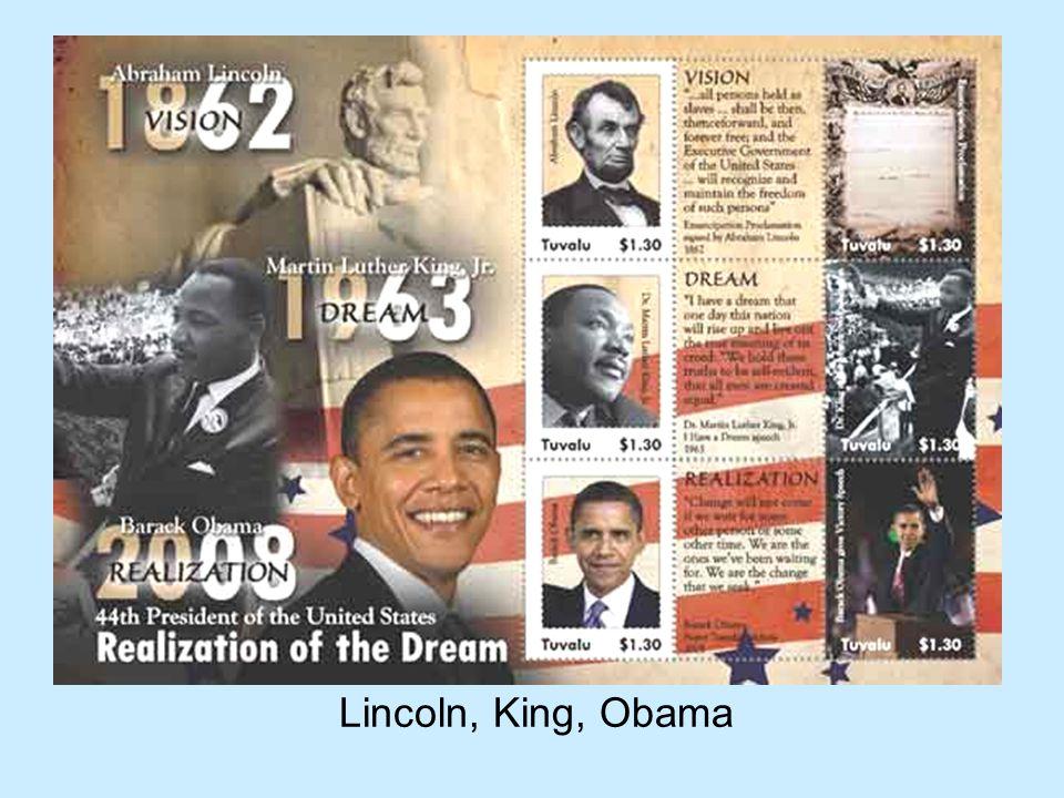 Lincoln, King, Obama