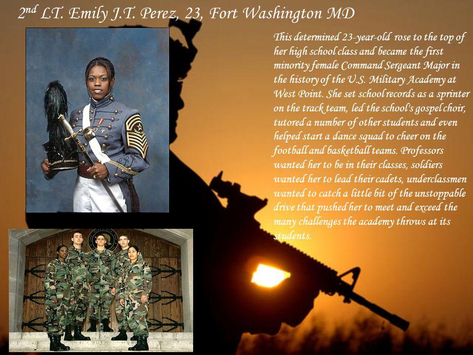 Sgt. Wakkuna Jackson, 21 Jacksonville FL