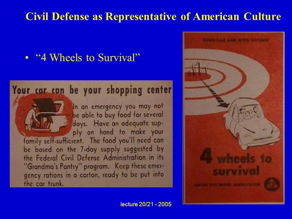 "Civil Defense as Representative of American Culture ""4 Wheels to Survival"""