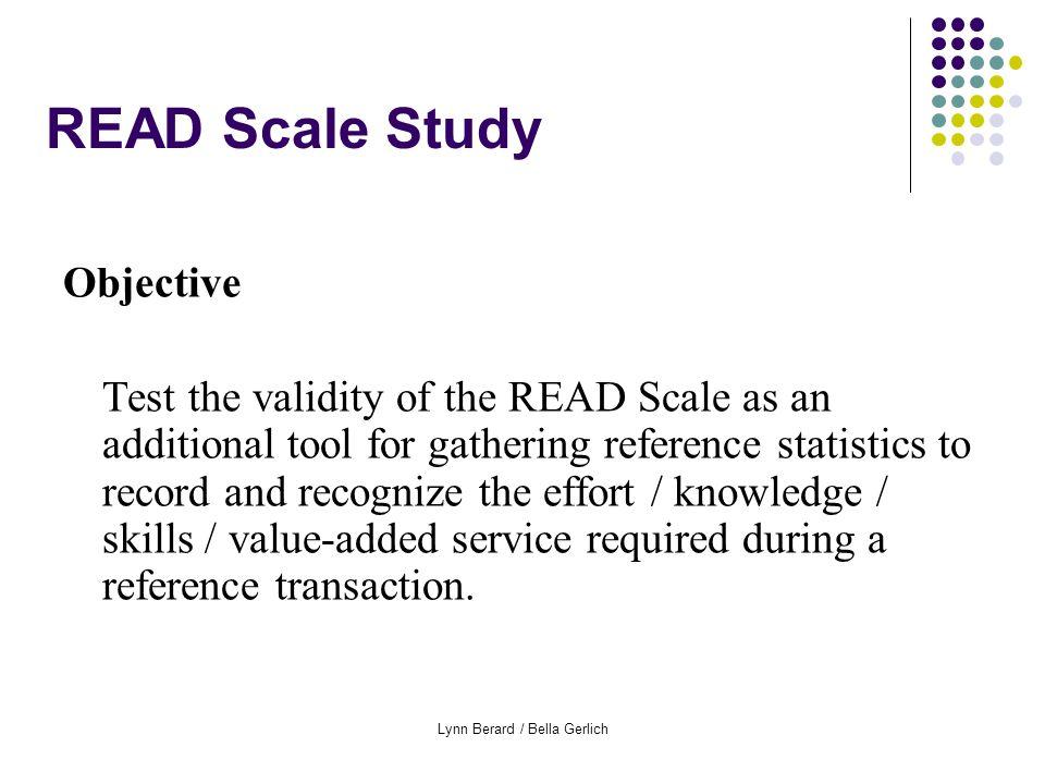Lynn Berard / Bella Gerlich READ Scale Practical Applications Training / Continuing Education New staff.