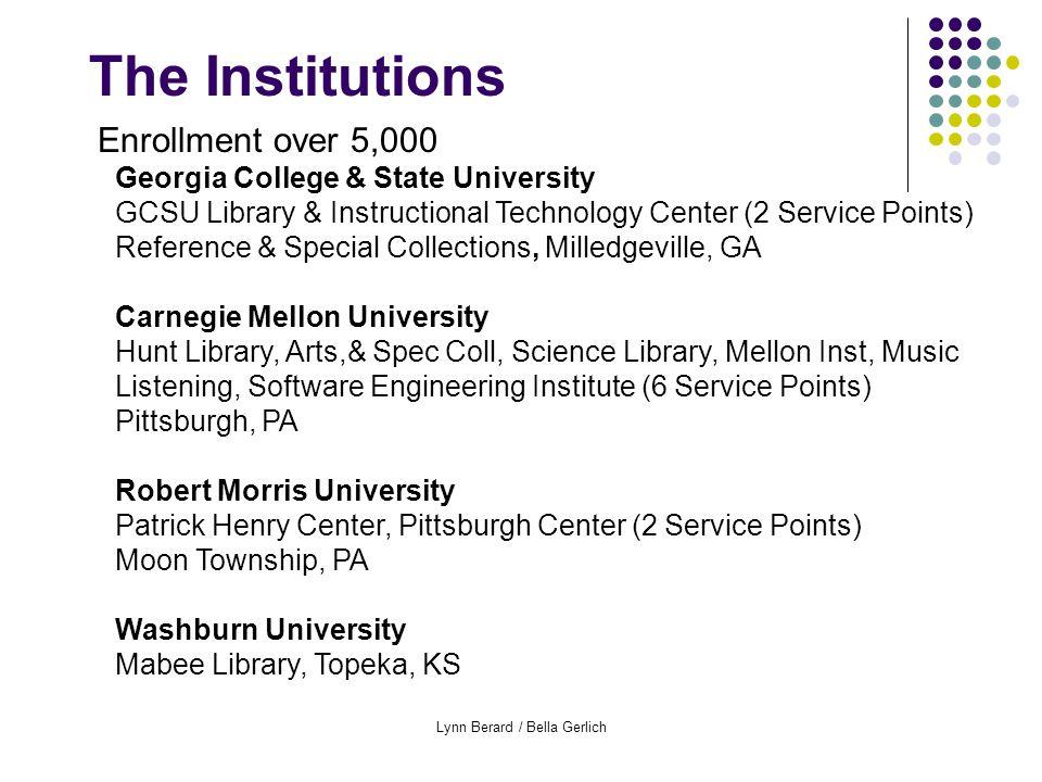 Lynn Berard / Bella Gerlich Full Semester Participants Data, Service Points
