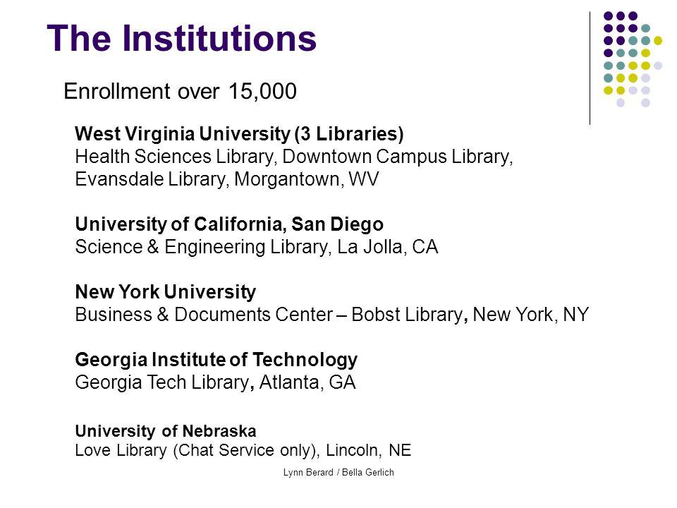 Lynn Berard / Bella Gerlich Full Semester Participants Data, Off-Desk