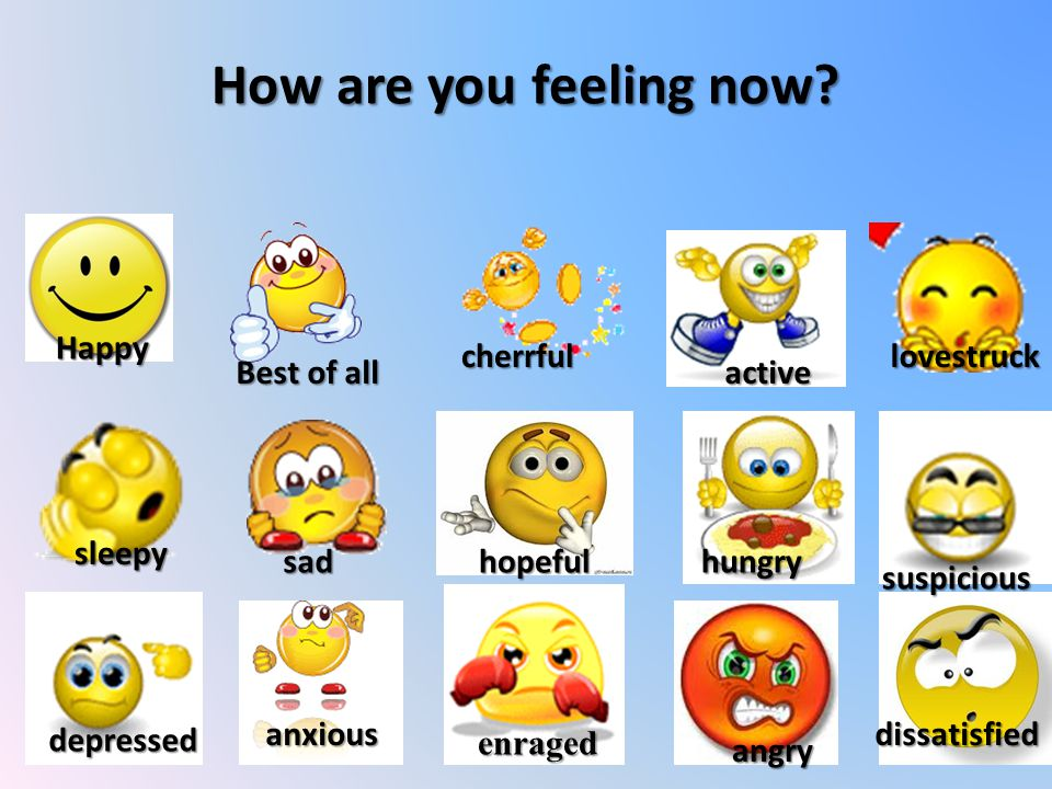 How are you feeling now.
