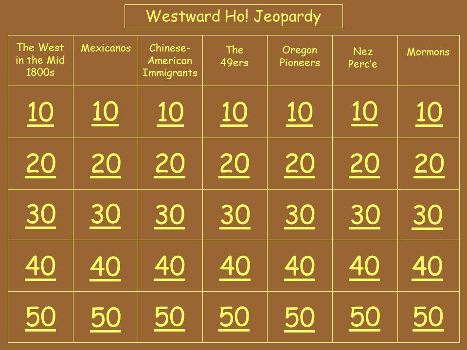 Westward Ho.