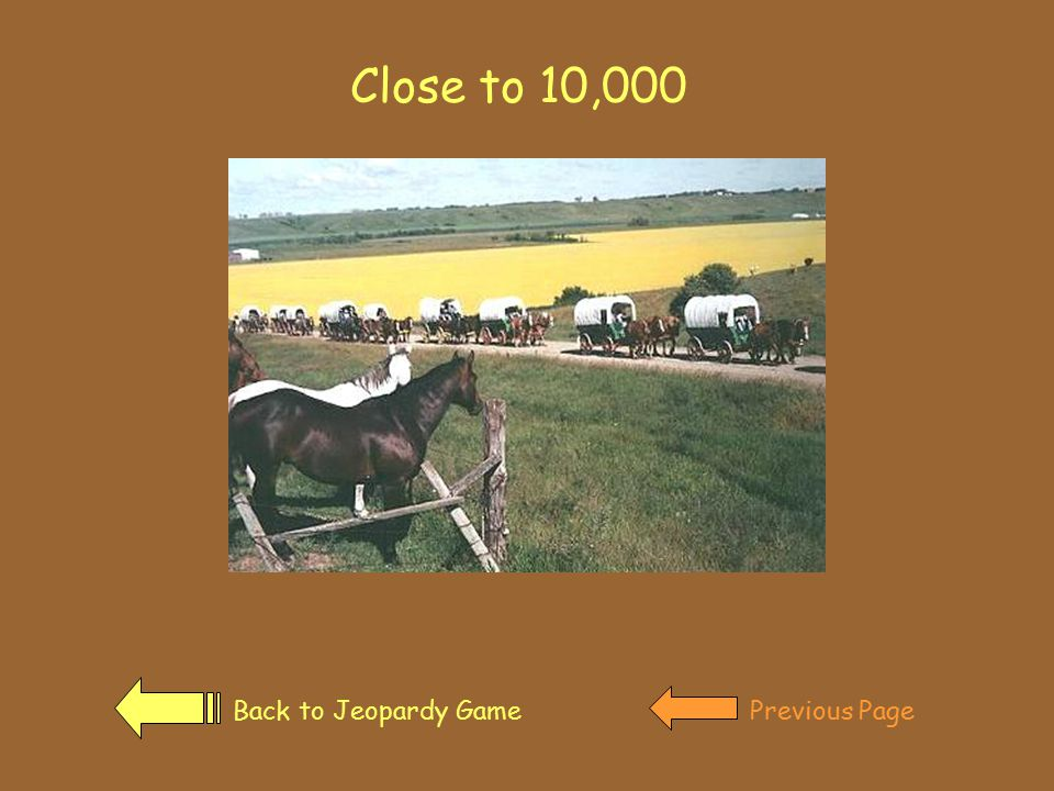 How many Americans traveled the Oregon trail. Click on the covered wagon for the answer.