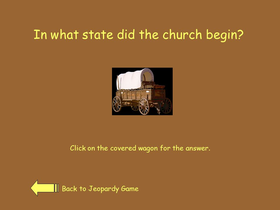 Oregon Trail Back to Jeopardy GamePrevious Page