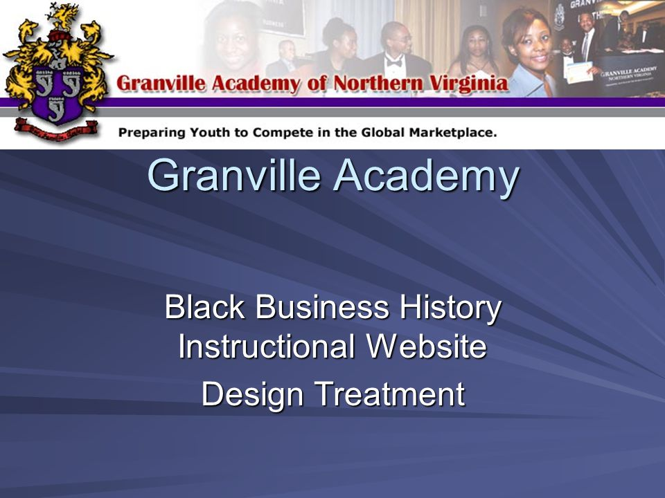 Granville Academy Black Business History Instructional Website Design Treatment