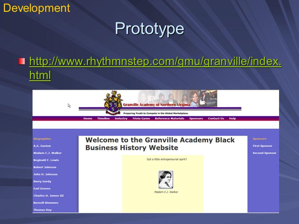 Prototype http://www.rhythmnstep.com/gmu/granville/index.