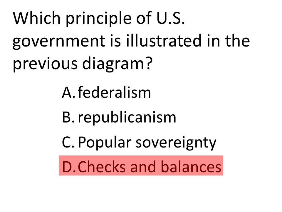 Which principle of U.S. government is illustrated in the previous diagram.